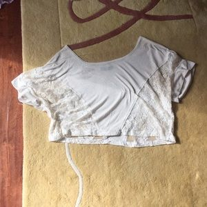 White lace t shirt